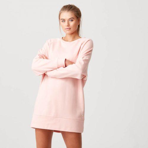 Luxe Lounge Sweater Dress - Blush - M