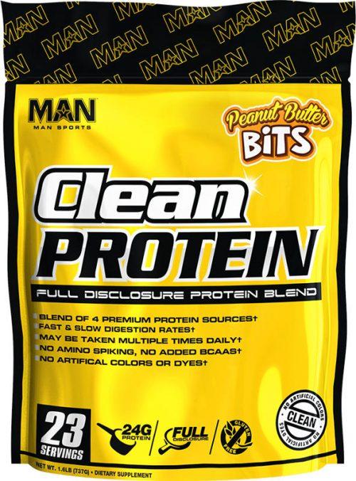 MAN Sports Clean Protein - 2lbs Peanut Butter Bits