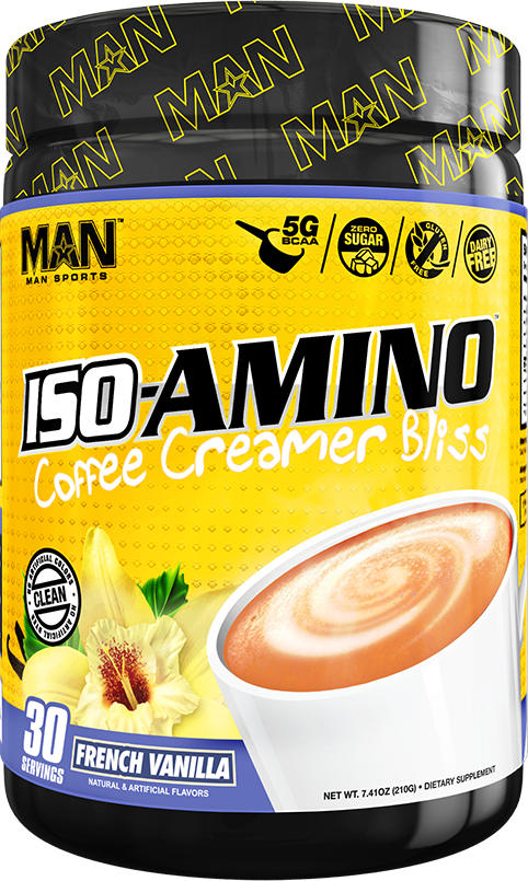 MAN Sports ISO-Amino Coffee Creamer - 30 Servings French Vanilla