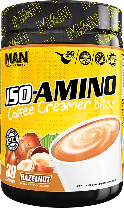 MAN Sports ISO-Amino Coffee Creamer - 30 Servings Hazelnut