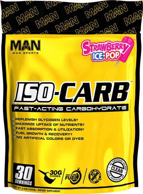 MAN Sports ISO-Carb - 30 Servings Strawberry Ice-Pop