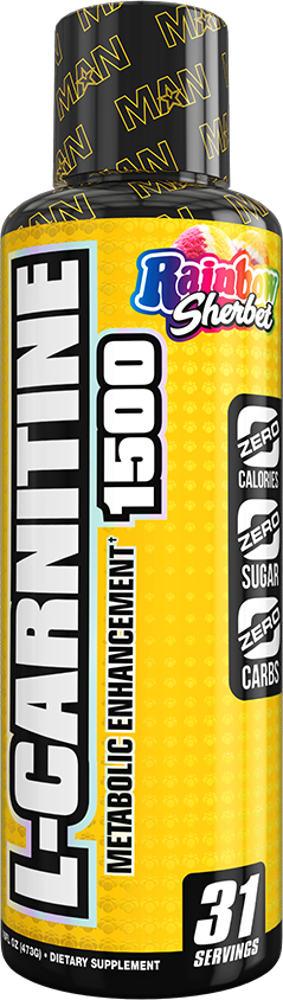 MAN Sports L-Carnitine 1500 - 31 Servings Rainbow Sherbet
