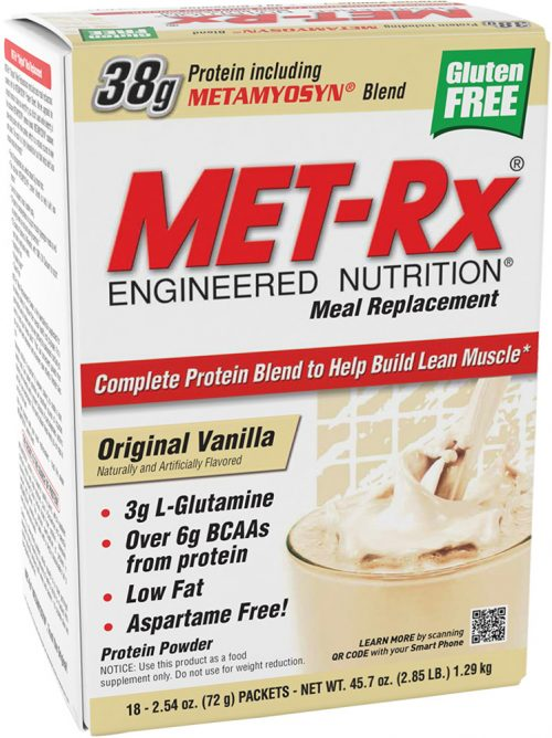 MET-RX Meal Replacement - 18 Packets Original Vanilla