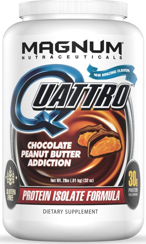 Magnum Nutraceuticals Quattro - 2lbs Chocolate Peanut Butter Addiction