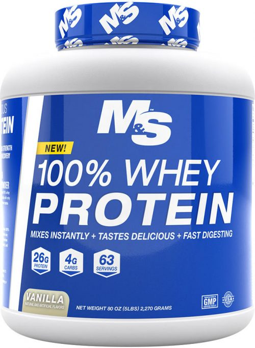 Muscle & Strength 100% Whey Protein - 5lbs Vanilla