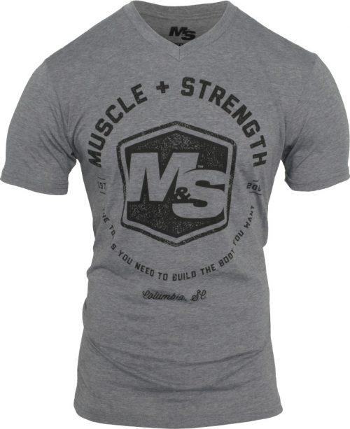 Muscle & Strength Hexagon V-Neck - Heather Medium