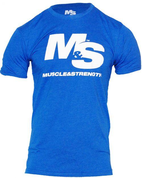 Muscle & Strength Spinal T-Shirt - Blue Medium
