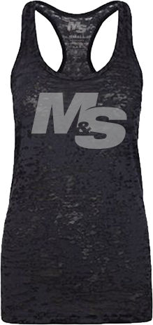 Muscle & Strength Women's Spinal Burnout Tank - Black XSmall