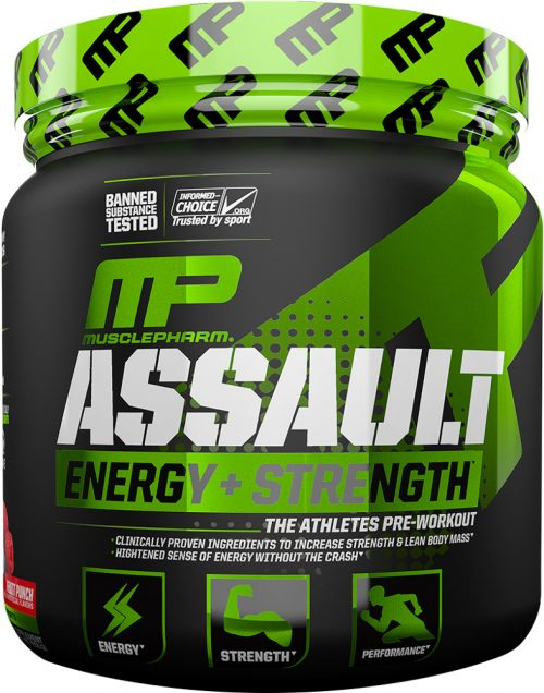 MusclePharm Assault - 30 Servings Blue Raspberry