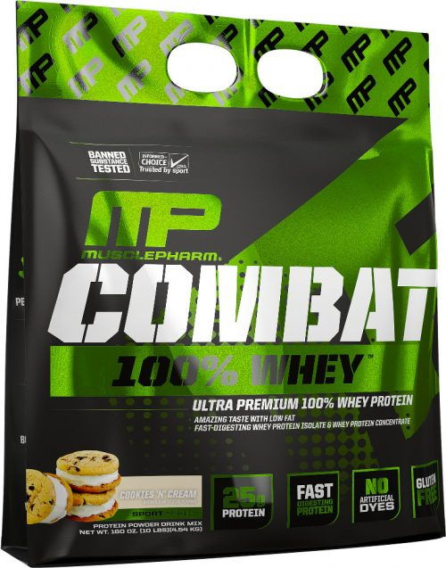 MusclePharm Combat 100% Whey - 10lbs Cookies N Cream
