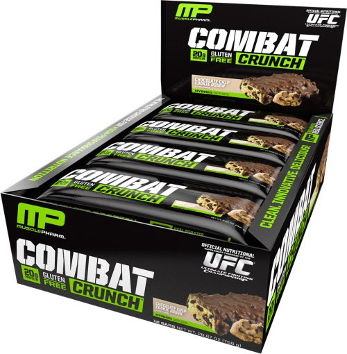 MusclePharm Combat Crunch Bars - Box of 12 Chocolate Chip Cookie Dough