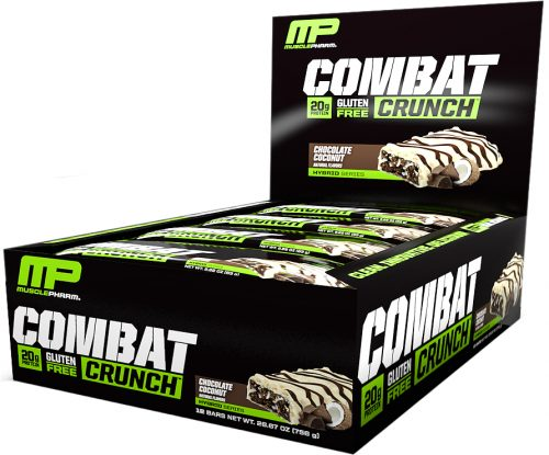 MusclePharm Combat Crunch Bars - Box of 12 Chocolate Coconut