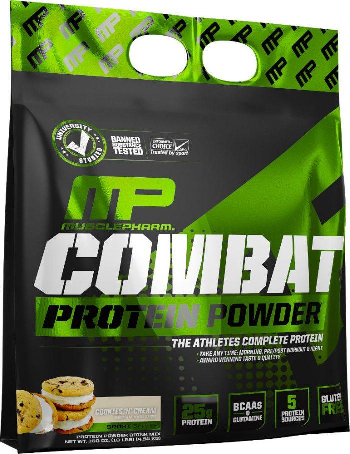 MusclePharm Combat Protein Powder - 10lbs Cookies N' Cream