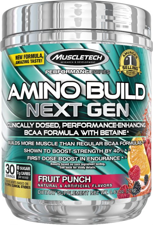 MuscleTech Amino Build Next Gen - 30 Servings Fruit Punch