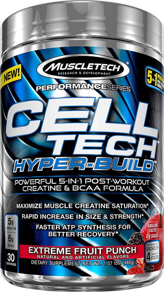 MuscleTech Cell-Tech Hyper-Build - 30 Servings Fruit Punch