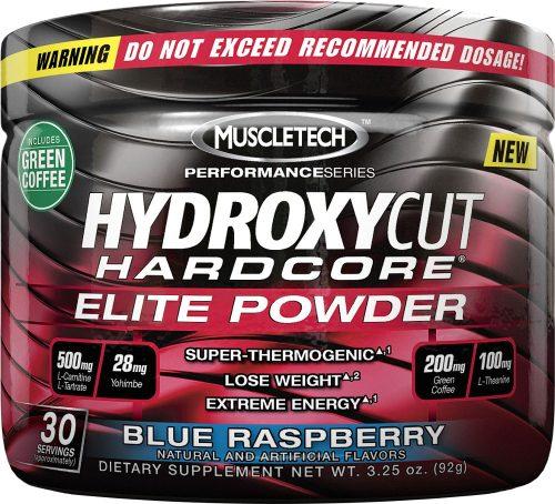 MuscleTech Hydroxycut Hardcore Elite Powder - 30 Servings Blue Raspber