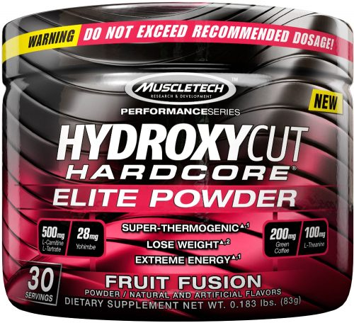 MuscleTech Hydroxycut Hardcore Elite Powder - 30 Servings Fruit Fusion