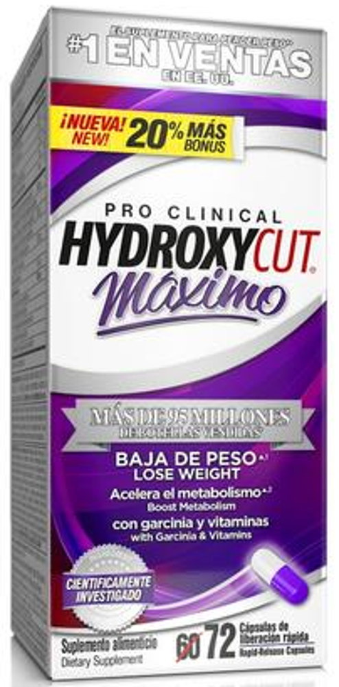 MuscleTech Hydroxycut Maximo - 72 Capsules