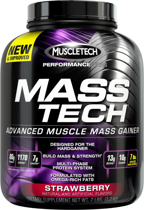 MuscleTech Mass-Tech - 7lbs Strawberry