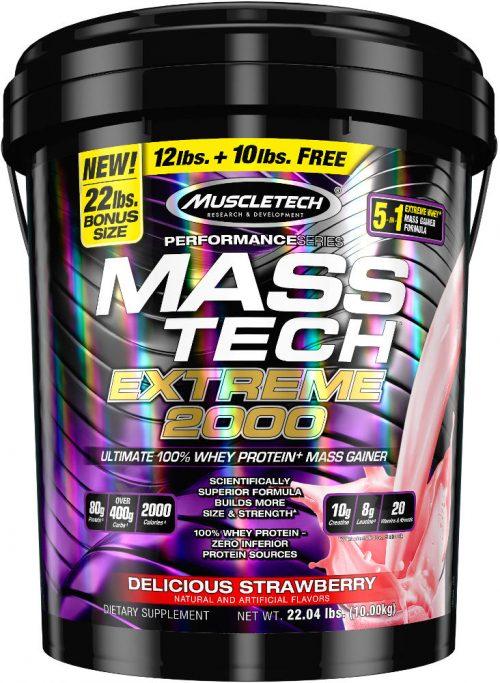 MuscleTech Mass-Tech Extreme 2000 - 22lbs Strawberry