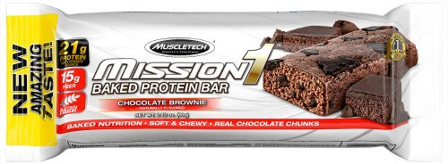 MuscleTech Mission1 Bars - 1 Bar Chocolate Brownie