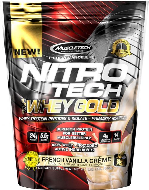 MuscleTech Nitro-Tech 100% Whey Gold - 1lb French Vanilla La Creme