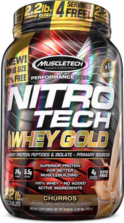 MuscleTech Nitro-Tech 100% Whey Gold - 2.2lbs Churro
