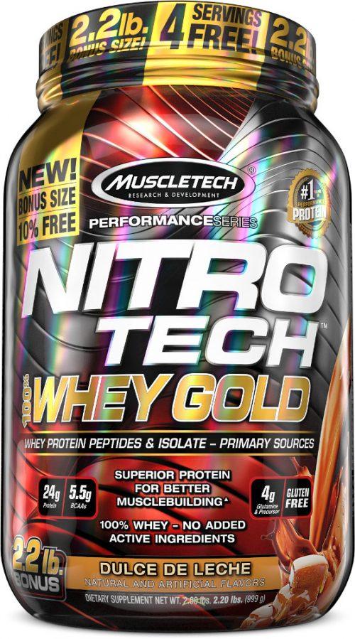 MuscleTech Nitro-Tech 100% Whey Gold - 2.2lbs Dulce de Leche