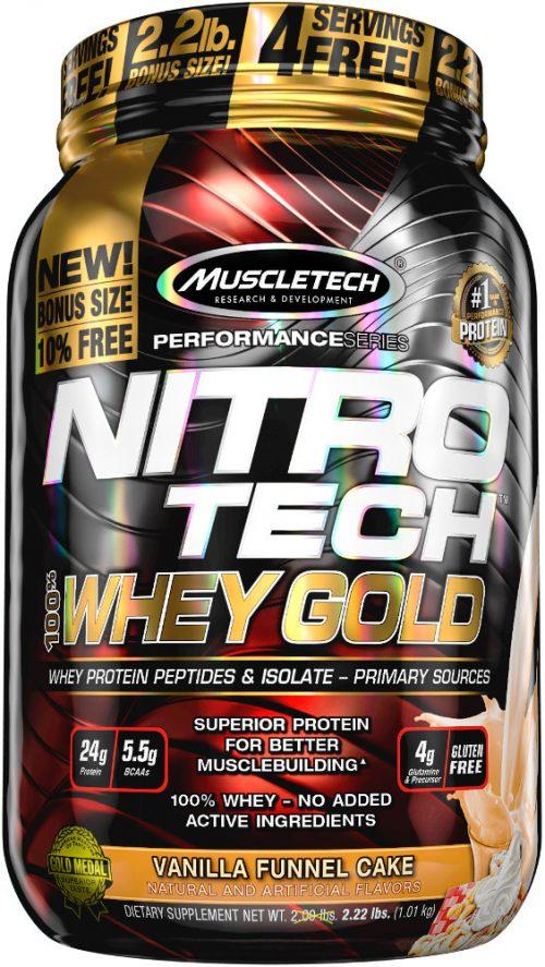 MuscleTech Nitro-Tech 100% Whey Gold - 2.2lbs Vanilla Funnel Cake