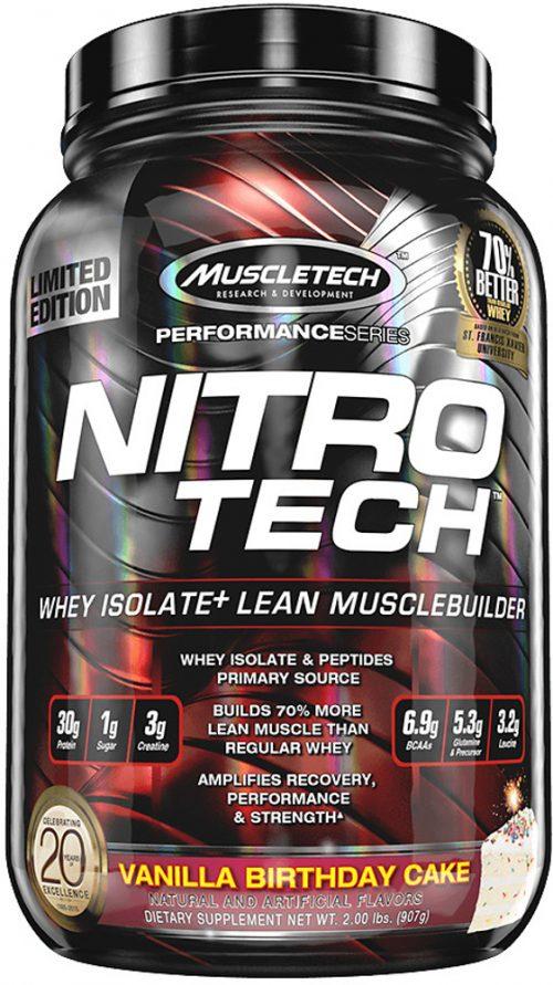 MuscleTech Nitro-Tech - 2lbs Vanilla Birthday Cake