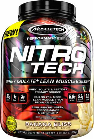 MuscleTech Nitro-Tech - 4lbs Banana Bliss