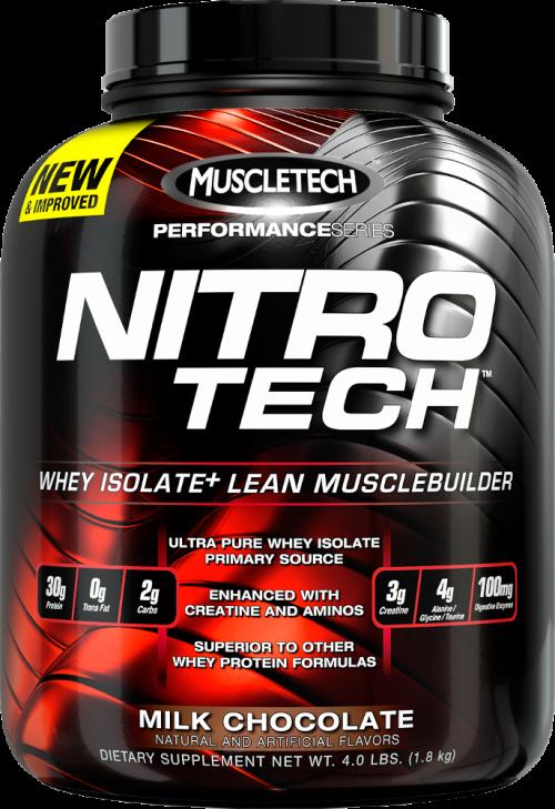 MuscleTech Nitro-Tech - 4lbs Milk Chocolate