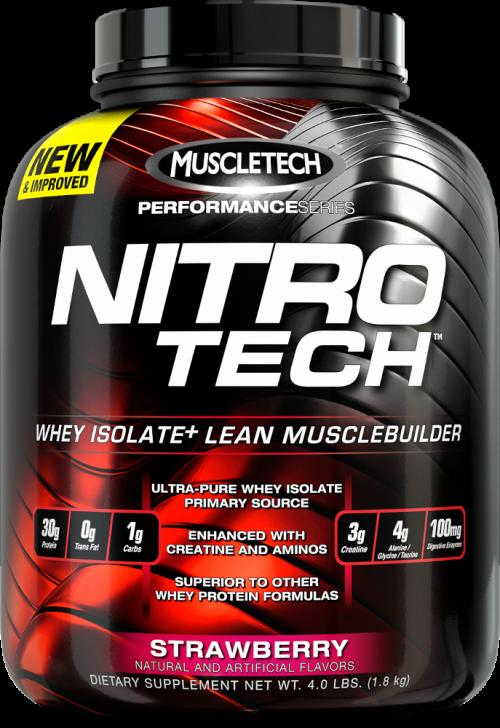 MuscleTech Nitro-Tech - 4lbs Strawberry