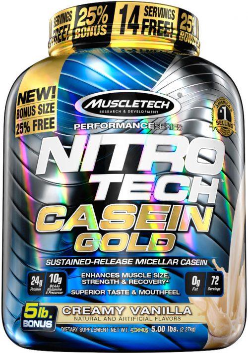 MuscleTech Nitro-Tech Casein Gold - 5lbs Creamy Vanilla