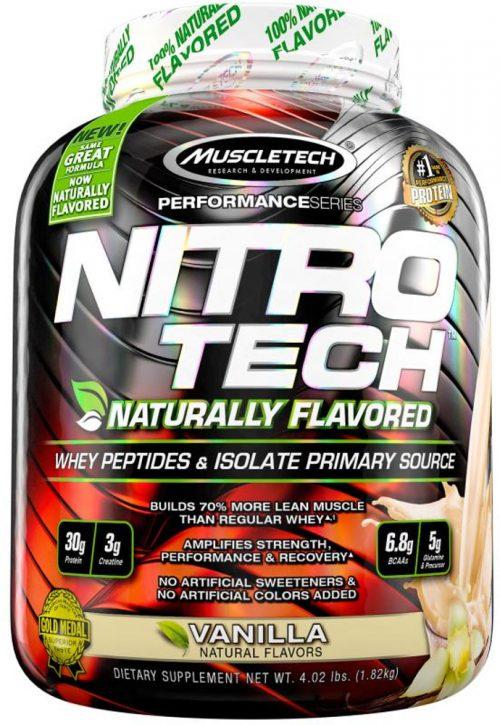 MuscleTech Nitro-Tech Natural - 4lbs Naturally Flavored MVanilla