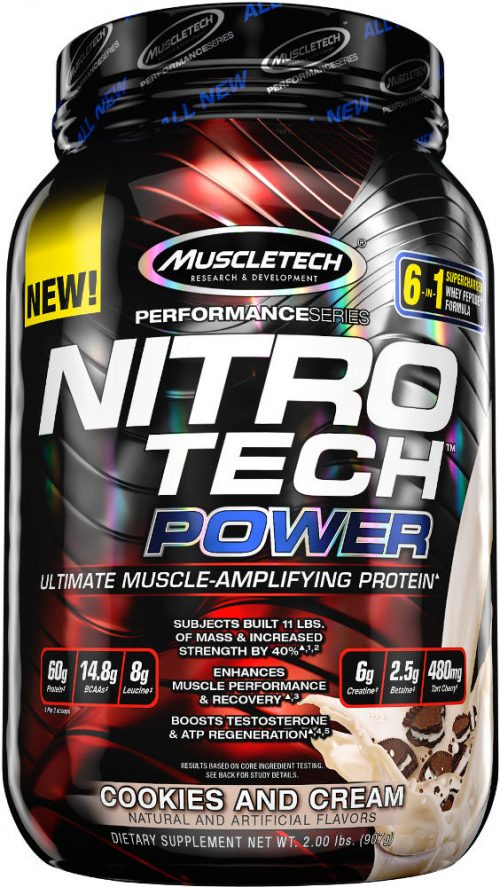 MuscleTech Nitro-Tech Power - 2lbs Cookies & Cream
