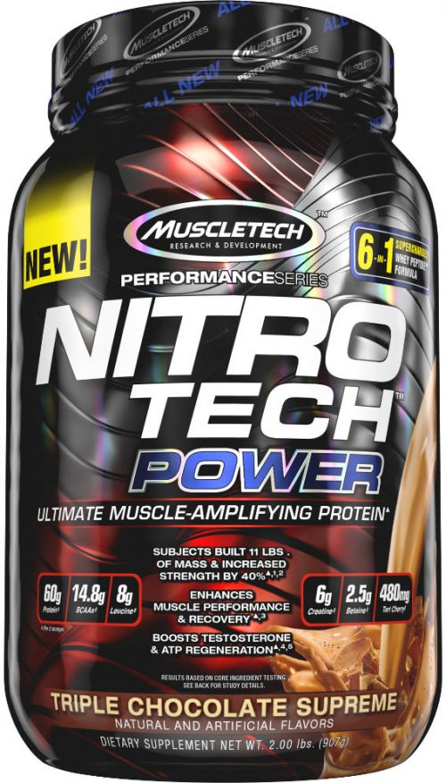 MuscleTech Nitro-Tech Power - 2lbs Triple Chocolate Supreme