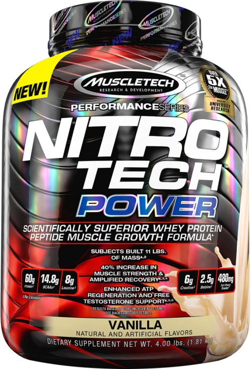 MuscleTech Nitro-Tech Power - 4lbs Vanilla