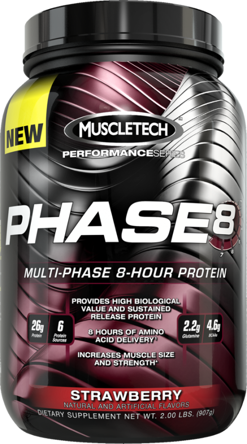 MuscleTech Phase8 - 2lbs Strawberry
