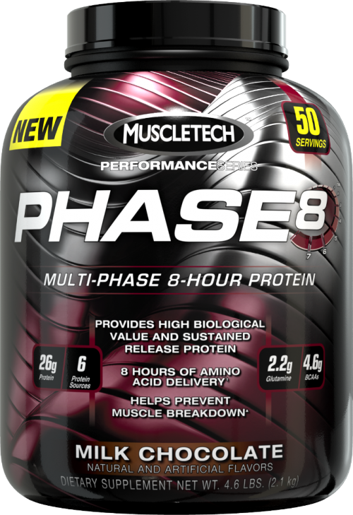 MuscleTech Phase8 - 4.4lbs Milk Chocolate