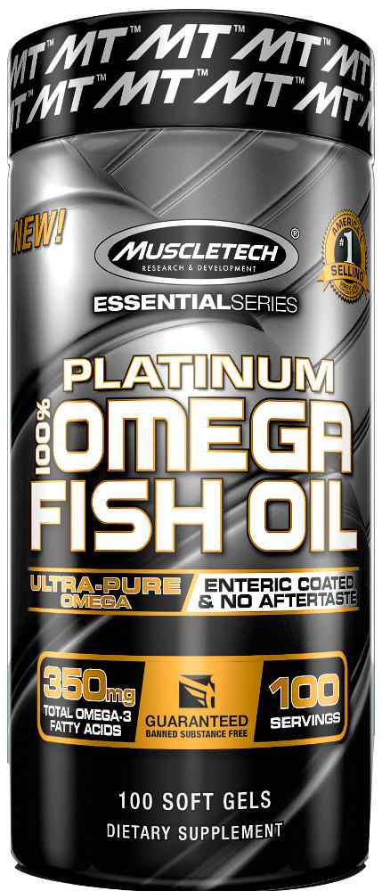 MuscleTech Platinum 100% Fish Oil - 100 Softgels
