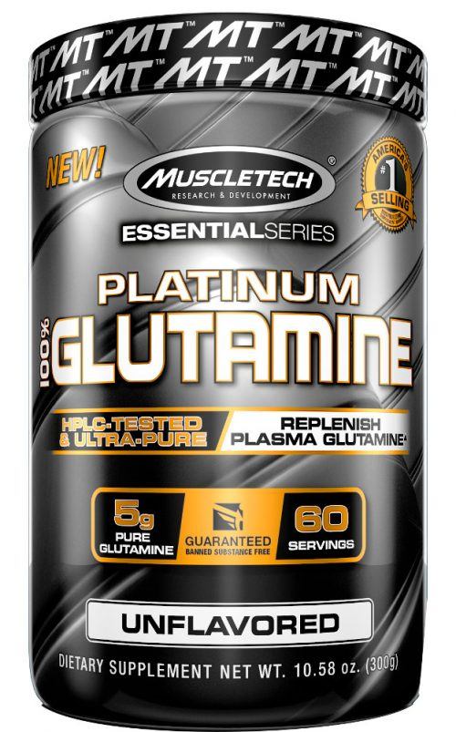 MuscleTech Platinum 100% Glutamine - 300g Unflavored