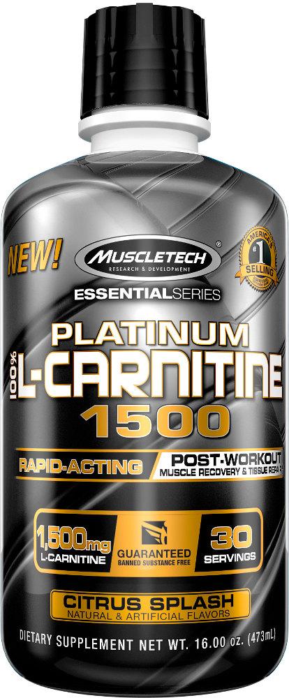 MuscleTech Platinum 100% L-Carnitine 1500 - 30 Servings Citrus Splash