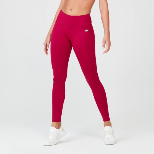 Myprotein Classic Heartbeat Plain Leggings - Red - XS