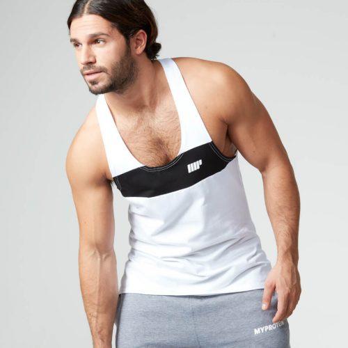Myprotein Men's Core Stripe Stringer Vest - White, XXL