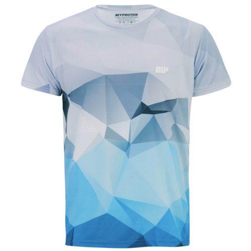 Myprotein Men's Geometric Printed Training Shirt - Light Blue, XXL