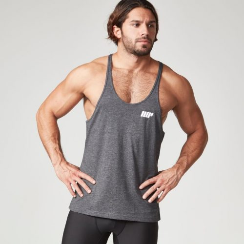 Myprotein Men's Longline Stringer Vest, Charcoal, XXL