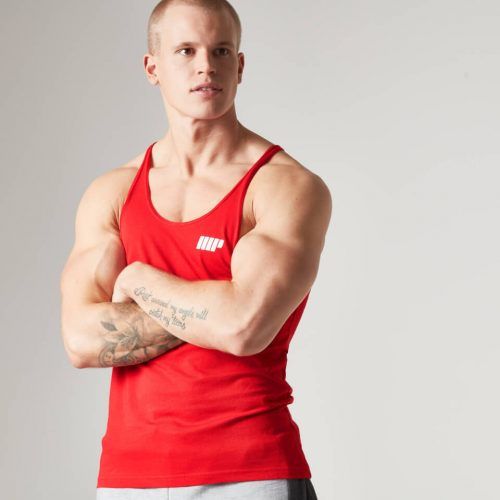 Myprotein Men's Longline Stringer Vest, Red, XXL