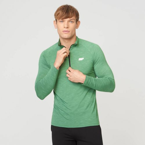 Myprotein Men's Performance 1/4 Zip Top - Green - XL