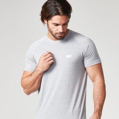 Myprotein Men's Performance Short Sleeve Top - Grey Marl - S